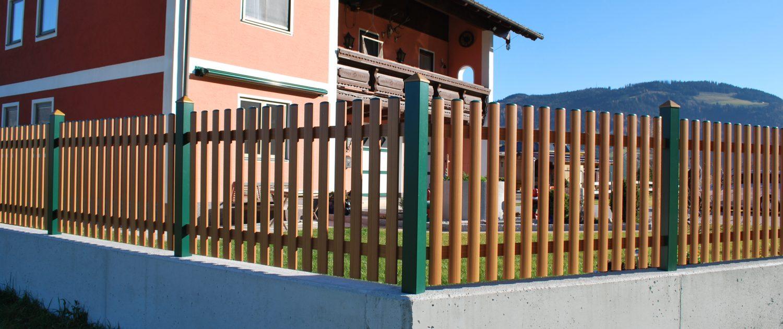 Alu Gartenzaun aus Aluminium Pulverbeschichtet in RAL Farben