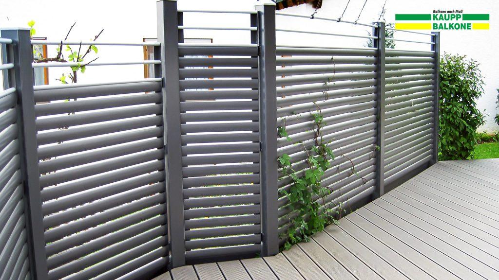 alu sichtschutz feldstetten kaupp balkone sterreich. Black Bedroom Furniture Sets. Home Design Ideas