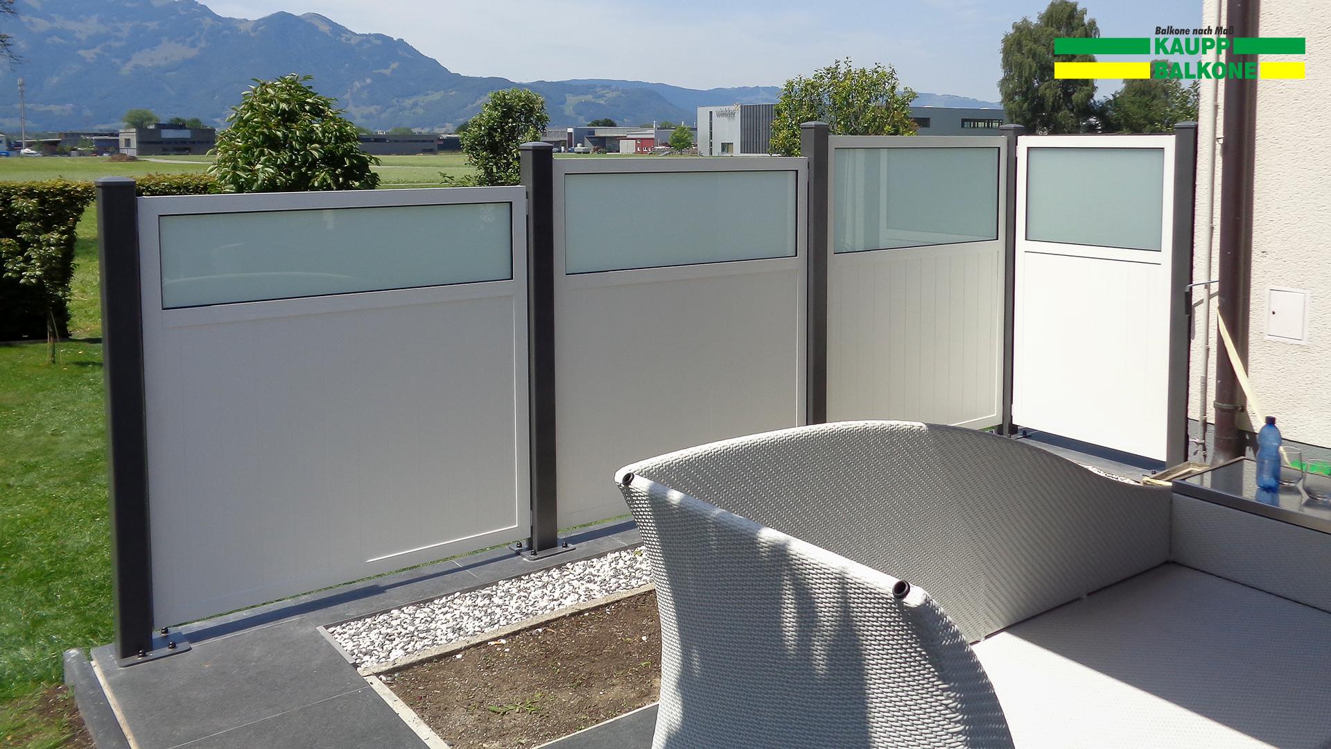 Alu Sichtschutzzaun Feldkirch